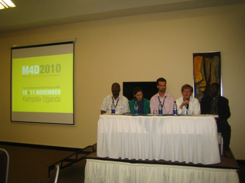 Panel discussion on M4D conference